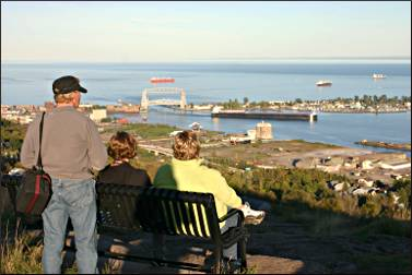 View from Duluth's Enger Park.
