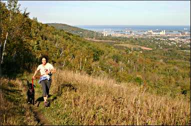 View from Superior Hiking Trail in Duluth.