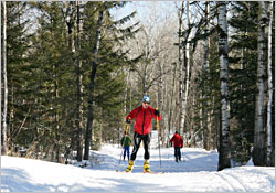 Skiing in Duluth's Lester Park.