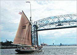 The tall ship Roseway in Duluth.