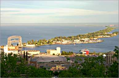 The view from Duluth's Skyline Parkway.