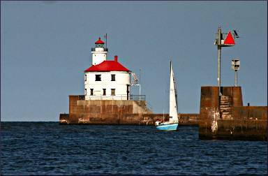 The Superior Entry Lighthouse.