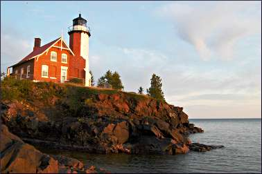 The lighthouse at Eagle Harbor, Mich.
