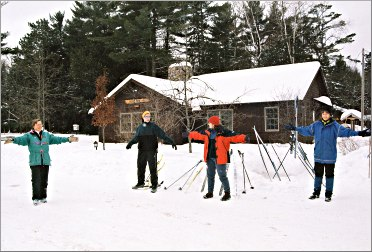 A ski class in Eagle River.