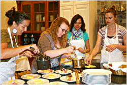 A cooking class at the Osthoff.