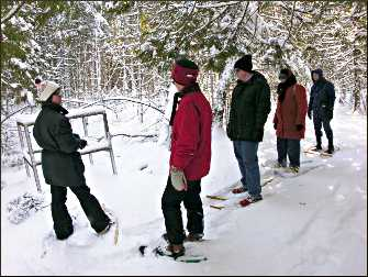 A snowshoe hike at Ridges Sanctuary.