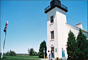 The lighthouse in Escanaba.
