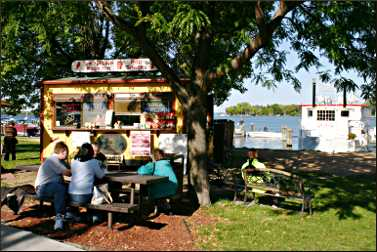 A food stand on Lake Minnetonka.