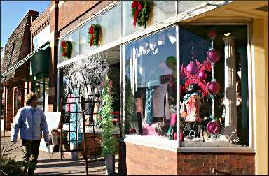 Shopping in downtown Excelsior.