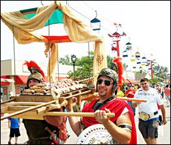 Carrying cannoli at Festa Italiana.