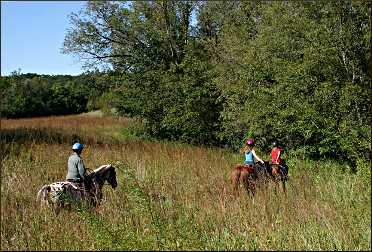 Horseback in Fort Ridgely.