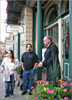 A historian leads a ghost tour in Galena.