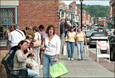 Shoppers in Galena.