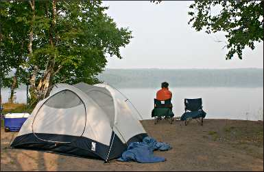 Marie Louise Lake Campground at Sleeping Giant.