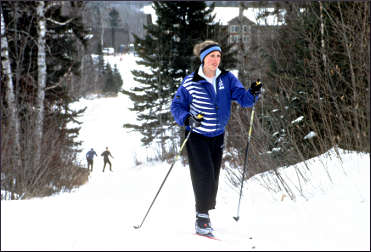 A skier at Giants Ridge.