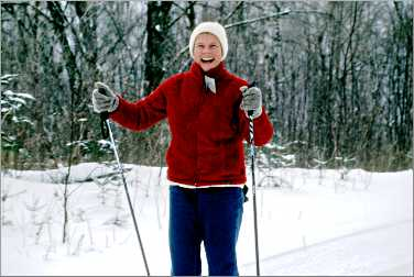 A cross-country skier in Minnesota.