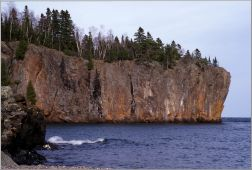 View of Gold Rock Point in Lake Superior