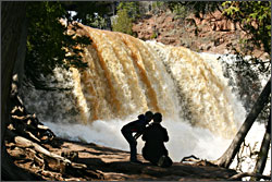 Gooseberry Falls in April.
