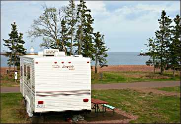 The municipal campground in Grand Marais.