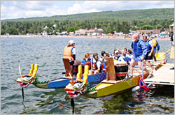 Dragon boats in Grand Marais.