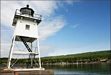 The light station in Grand Marais.