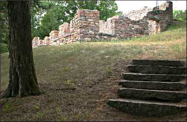 Ruins of Joseph Brown's house.