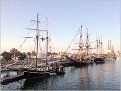 Tall ships in Green Bay.