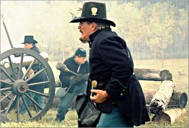 A soldier at the Wade House Civil War re-enactment.