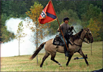 A Confederate soldier in Greenbush.
