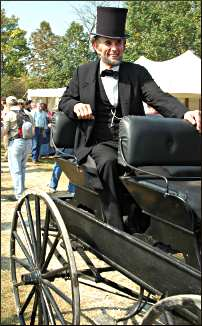 Lincoln at a Civil War event.