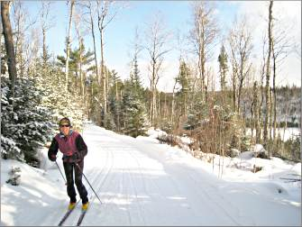 A skier on the Central Gunflint.