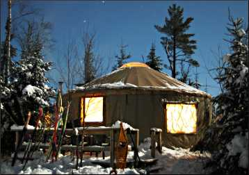 Tall Pines Yurt on the Gunflint Trail.