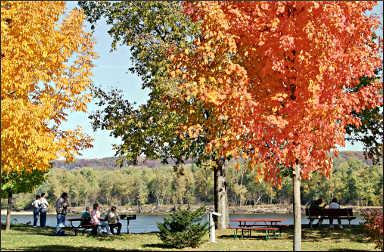 Fall colors in Guttenberg.