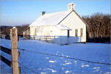 An Amish schoolhouse near Harmony.