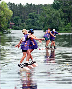 Lumberjacks in a logrolling tourney.