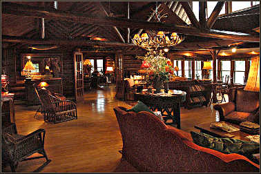 Inside Spider Lake Lodge.