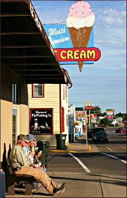 Eating ice cream at West Dairy in Hayward.