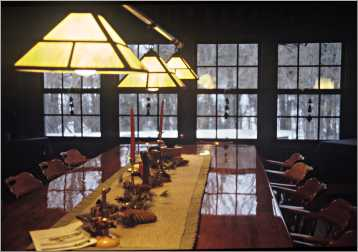 The Hazen Inn dining room.