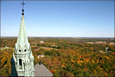 The view from Holy Hill.