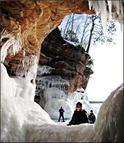 Mainland ice caves in the Apostles.