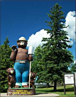 Smokey Bear is International Falls' mascot.