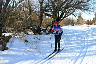 Skier at ABR.