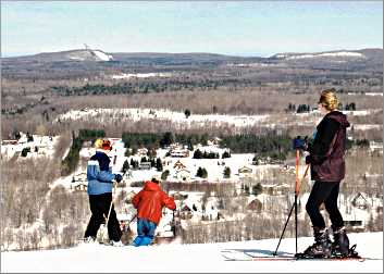 Skiers on the hill at Big Powderhorn.