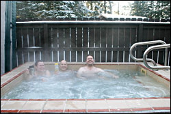 Hot tub at National Forest Lodge.
