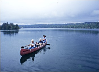 Canoeing on Isle Royale's Tobin Harbor.