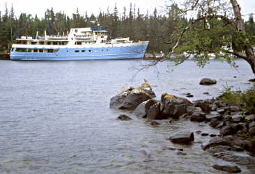 Isle Royale Queen in Rock Harbor.
