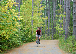 Bicycling in Itasca State Park.