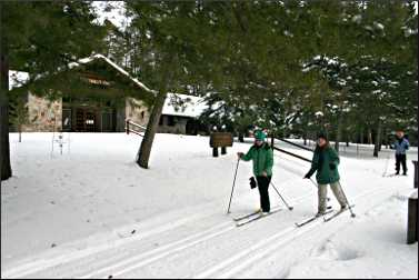 Skiing in Itasca State Park.