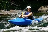 Youth learns whitewater kayaking on Wolf River.