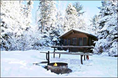 Camper cabins at Jay Cooke.